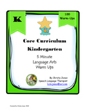 ELA- Kindergarten Common Core-100 ELA Warm Ups