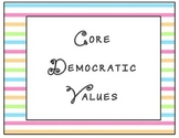 Core Democratic Values Poster
