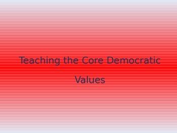 Core Democratic Values PowerPoint