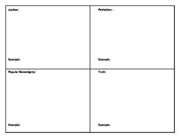 Core Democratic Values Word Cards