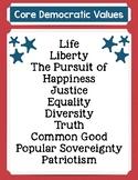 Core Democratic Values poster