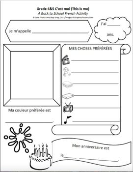 Core French Back to School Activities Bundle for Grade 1-8