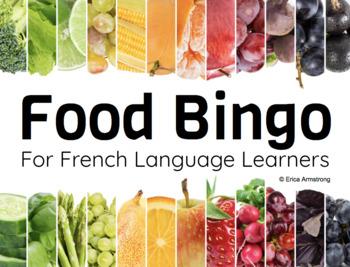 Core French Bingo Game: Food / Nourriture