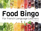 Core French Bingo Game: Food / Nourriture