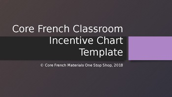 Core French Classroom Incentive Chart