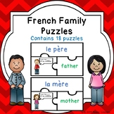 Core French Family Members Vocabulary Game Puzzles La Famille FSL Activity