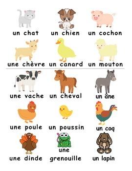 farm animals a la ferme french games by vari lingual tpt. Black Bedroom Furniture Sets. Home Design Ideas