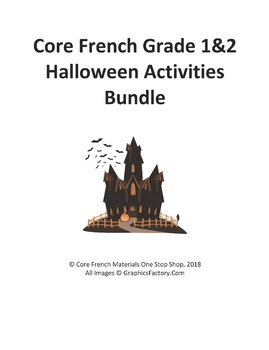 Core French Grade 1&2 Halloween Bundle
