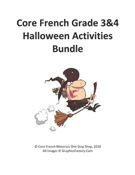 Core French Grade 3&4 Halloween Bundle