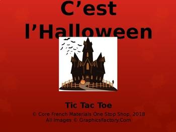 Core French Grade 3-8 Halloween Tic Tac Toe