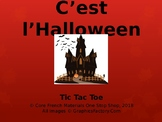 Core French Grade 3-8 Halloween Tic Tac Toe