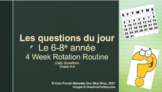 Core French Grade 5-8 Weekly Daily Questions Routine PowerPoint