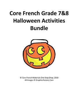 Core French Grade 7&8 Halloween Bundle