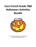 Core French Grade 7&8 Halloween Bundle