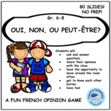 Core French Back to School Icebreaker Game