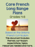 Core French Long Range Plans (using Ontario Curriculum)