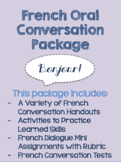 Core French Oral Conversation Packet: Includes Handouts, Activities, Tests