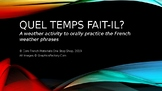 Core French Oral PowerPoint Activity: Quel temps fait-il? (Match to Clothing)