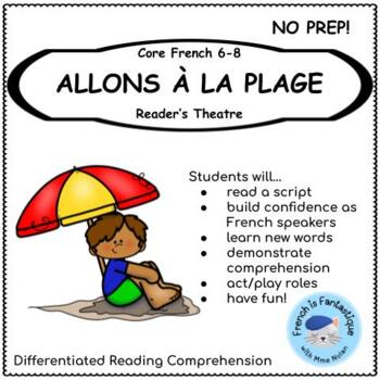 Core French Play: La Plage (the Beach) French Reading and Speaking Activities