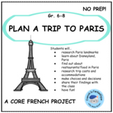 Core French Project: Plan a Trip to Paris, France