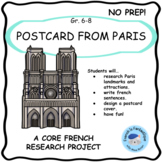 Core French Project: Postcard From Paris