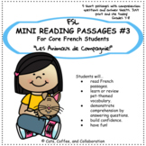 Core French Reading Comprehension Passages: Les Animaux de Compagnie (Pets)