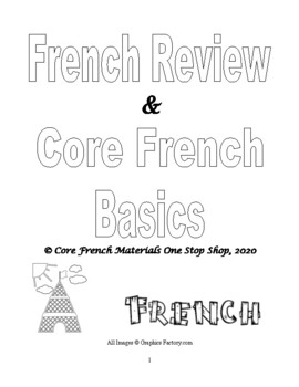 Core French Review Book for Grades 3, 4, 5