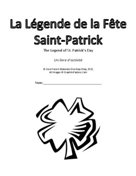photo about St Patrick Day Printable Activities called Main French St. Patricks Working day: A Printable Video game Booklet