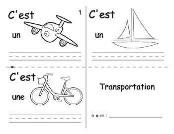 Transportation FRENCH Workbook