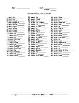 Core French -Verbs-