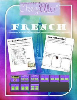 Core French/FSL - French Adjectives Lesson Pack