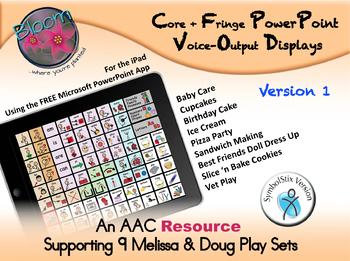 Core + Fringe PowerPoint Voice-Output Displays - SymbolStix - Version 1