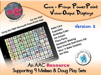 Core + Fringe PowerPoint Voice-Output Displays - SymbolStix - Version 2