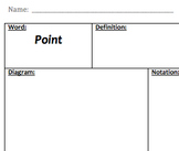 Core Geometry Vocab Sheets - Basics, Constructions, Symmetry, & Transformations