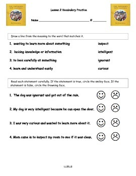 Core Knowledge 2nd Grade Domain 1 Lesson 2 Vocabulary and Comprehension