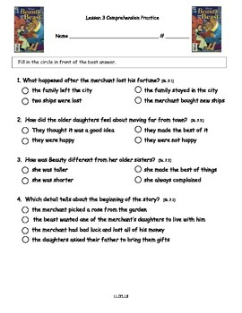 Core Knowledge 2nd Grade Domain 1 Lesson 3 Vocabulary and Comprehension