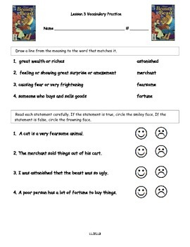 Core Knowledge 2nd Grade Domain 1 Lesson 3 Vocabulary and