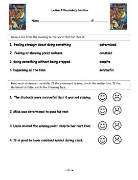 Core Knowledge 2nd Grade Domain 1 Lesson 4 Vocabulary and Comprehension