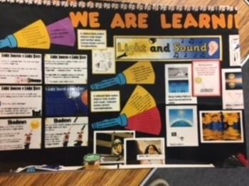 Core Knowledge 3rd Light and Sound Bulletin Board idea