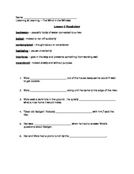 Core Knowledge (CKLA) Grade 3 Listening/Learning, Domain 1 Vocabulary Pages