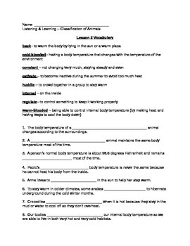 Core Knowledge (CKLA) Grade 3 Listening/Learning, Domain 2 Vocabulary Pages