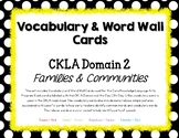 Core Knowledge (CKLA) Vocab & Word Wall Cards Domain 2: Fa