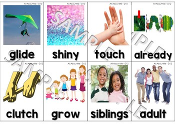 Core Knowledge (CKLA) Vocabulary & Word Wall Cards for Domain 1: All ABout Me