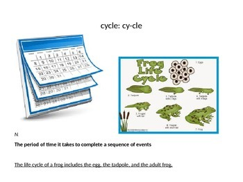 Grade 2 Core Knowledge Domain 6: Cycles in Nature Vocabulary Power Point
