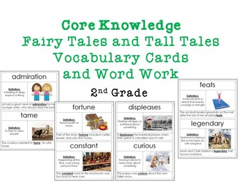 Core Knowledge: Fairy Tales and Tall Tales Vocab. Cards and Word Work