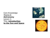 Core Knowledge First Grade Unit 6 Astronomy CCSS Vocabulary Cards