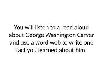 Core Knowledge Kindergarten George Washington Carver Plants