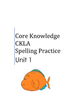 Core Knowledge Language Arts CKLA Spelling Unit 1 Supplement 2nd Grade