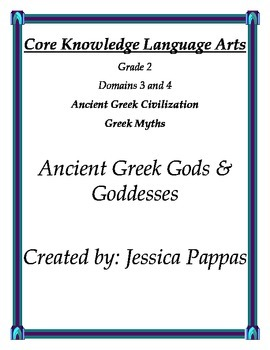 Core Knowledge Language Arts Grade 2 Greek Gods and Goddesses