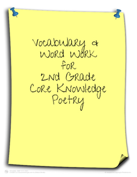 Core Knowledge Poetry Vocabulary (2nd Grade)